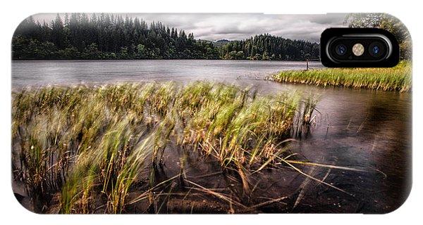 Loch Ard iPhone Case - Loch Ard From The Reed Beds Landscape by John Farnan