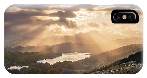 Loch Ard iPhone Case - Loch Ard Sunburst 1 by Rod McLean