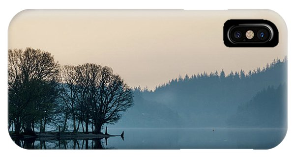 Loch Ard iPhone Case - Loch Ard Reflection by Dave Bowman