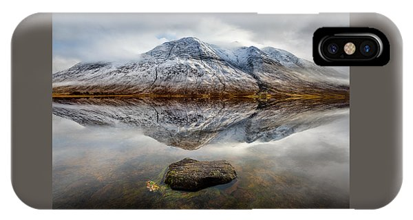 Beautiful Scotland iPhone Case - Loch Etive Reflection by Dave Bowman