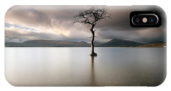 Loch Lomond Lone Tree IPhone Case