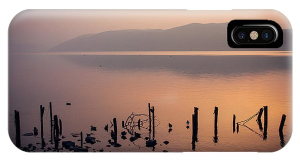 Golden Gardens iPhone Case - Loch Ness Sunset by Chris Dale