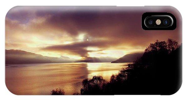 Loch Ness Winter Sunset IPhone Case