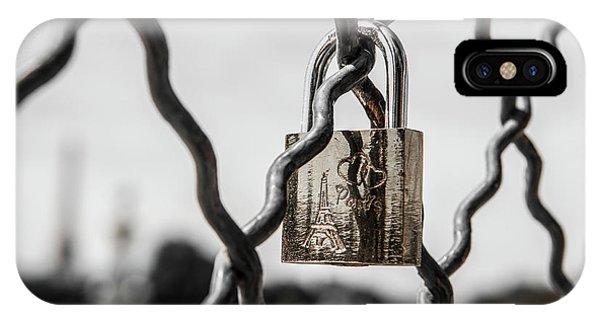 Locked In Paris IPhone Case