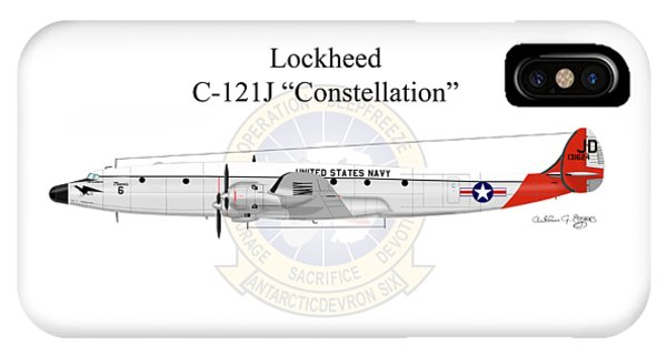 Lockheed C-121j Constellation IPhone Case