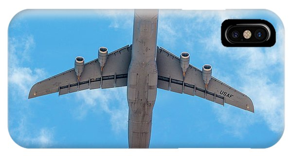 IPhone Case featuring the photograph Lockheed Martin C5 Galaxy Overhead by SR Green