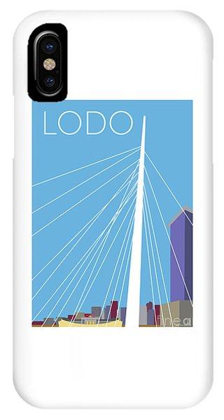 IPhone Case featuring the digital art Lodo/blue by Sam Brennan