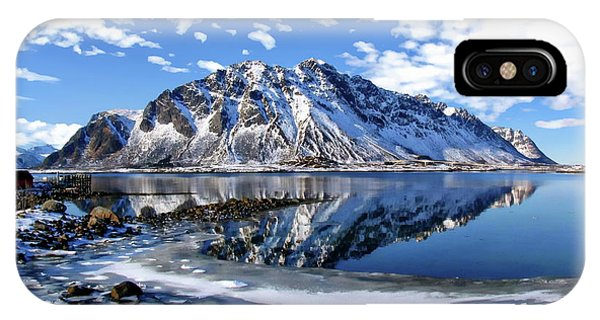 Lofoten Winter Scene IPhone Case