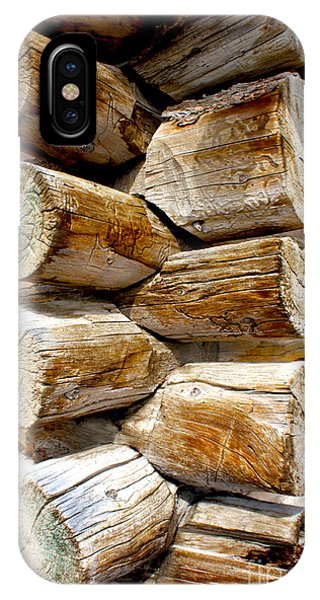 Log Cabin Corner IPhone Case