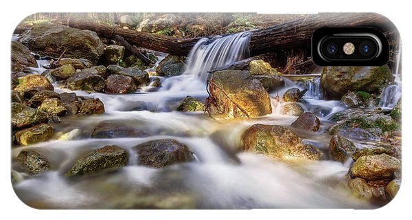 Log Falls On Limekiln Creek IPhone Case