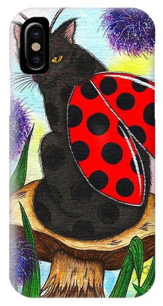 Logan Ladybug Fairy Cat IPhone Case