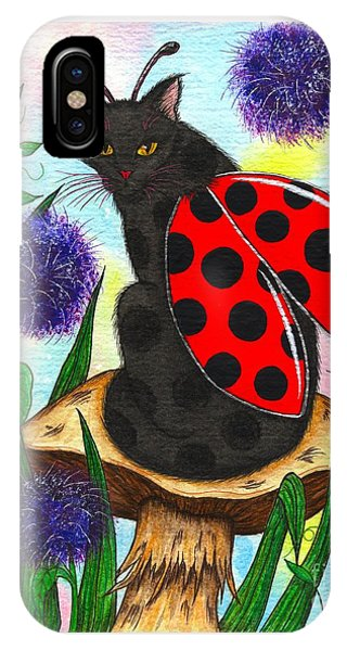 Logan Ladybug Fairy Cat IPhone Case