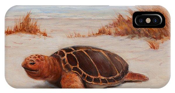 Loggerhead Turtle IPhone Case