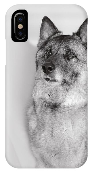 IPhone Case featuring the photograph Loki Bw by Irina ArchAngelSkaya