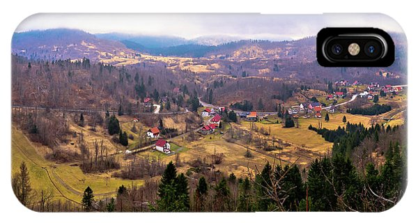 Lokve Valley In Gorski Kotar View IPhone Case