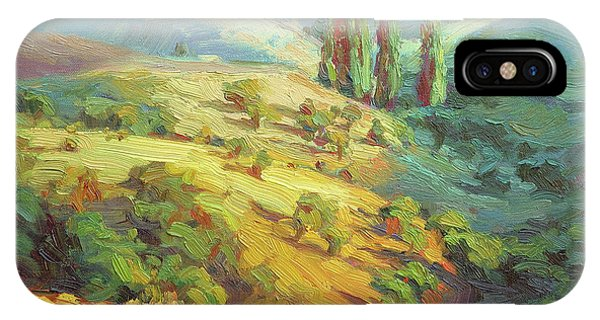 Impressionism iPhone Case - Lombardy Homestead by Steve Henderson