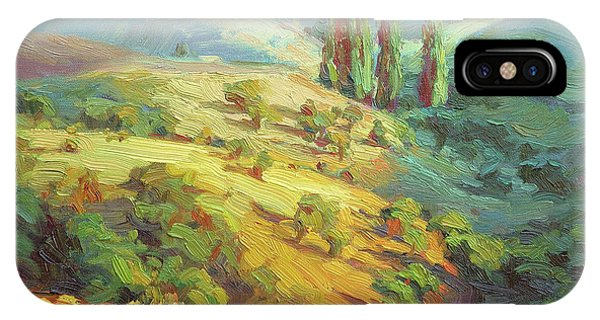 Impressionism iPhone X Case - Lombardy Homestead by Steve Henderson