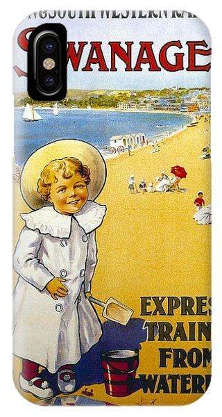 Swanage iPhone Case - London And South Western Railway - Swanage, England - Retro Travel Poster - Vintage Poster by Studio Grafiikka