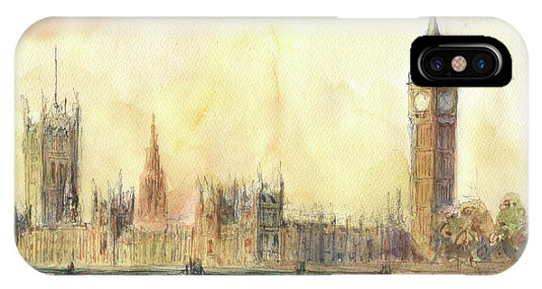 Ben iPhone Case - London Big Ben And Thames River by Juan Bosco
