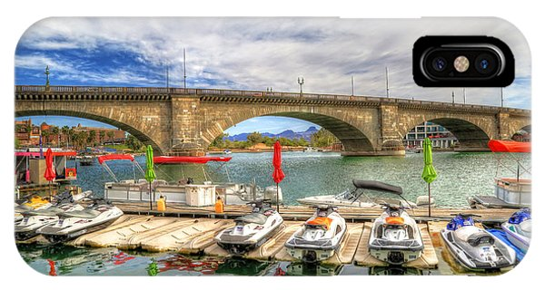Jet Ski iPhone X Case - London Bridge View by Donna Kennedy