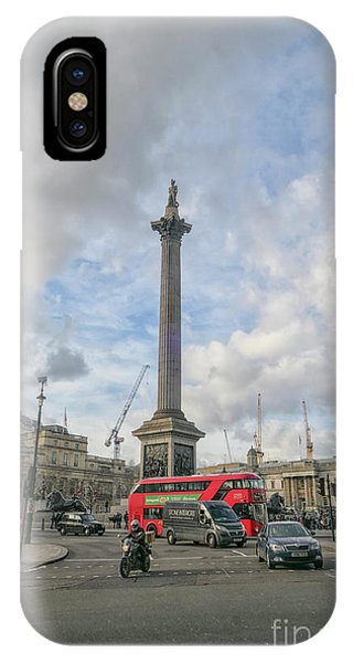 London Bus And Lord Nelson IPhone Case
