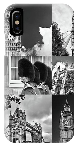London Collage Bw IPhone Case