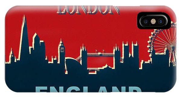 Traveler iPhone Case - London England Skyline by Dan Sproul