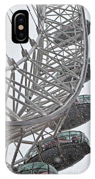 London Eye And Snow IPhone Case