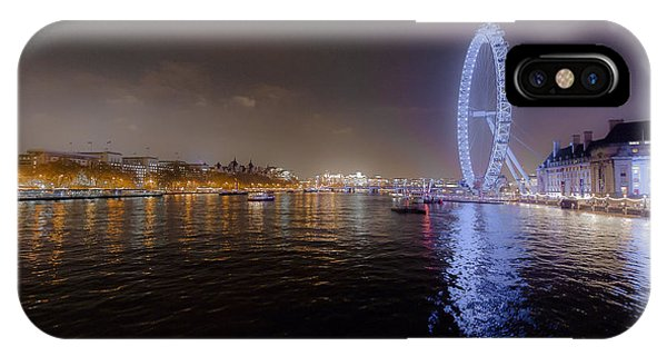London Eye At Night IPhone Case