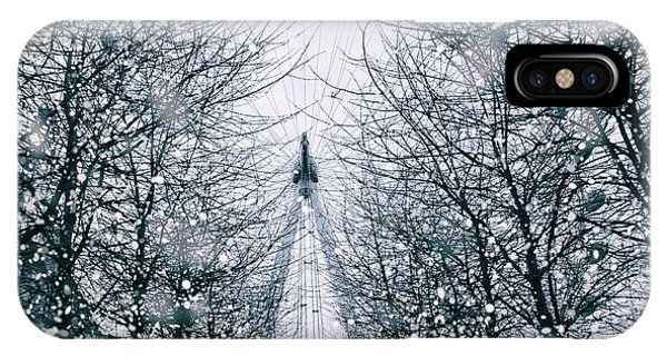 London Eye iPhone Case - London Eye Snow by Martin Newman