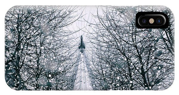 London Eye Snow IPhone Case