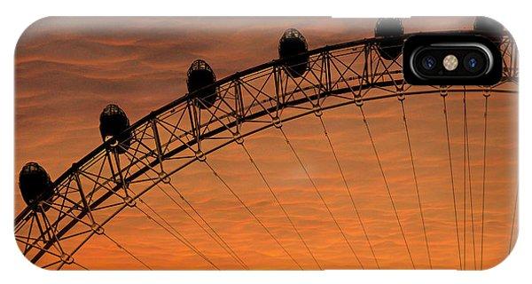 London Eye iPhone Case - London Eye Sunset by Martin Newman