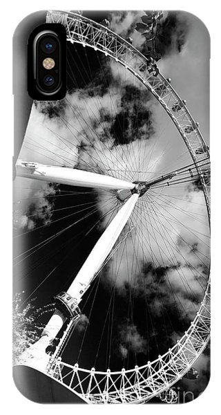 London Ferris Wheel Bw IPhone Case