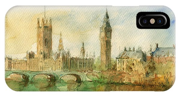 Ben iPhone Case - London Parliament by Juan  Bosco