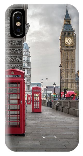 London Phone Booths And Big Ben IPhone Case