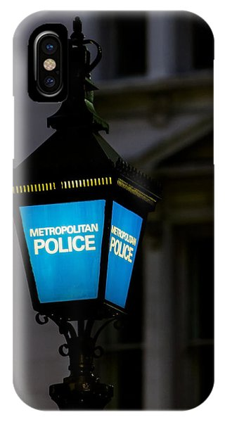 London Police Lamp IPhone Case