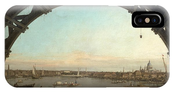 See iPhone Case - London Seen Through An Arch Of Westminster Bridge by Canaletto