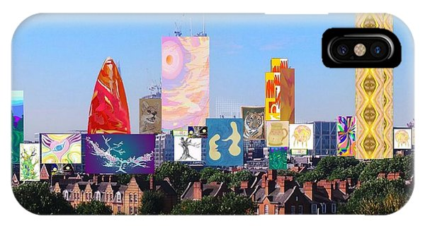 London Skyline Collage 1 IPhone Case