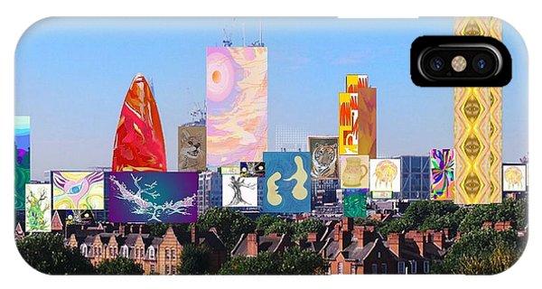 London Skyline Collage 1 IPhone Case
