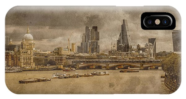 London, England - London Skyline East IPhone Case