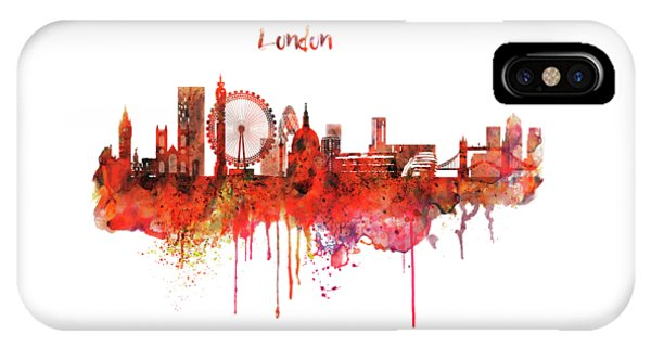 London Skyline Watercolor IPhone Case