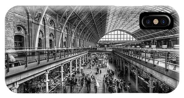 London St Pancras Station Bw IPhone Case