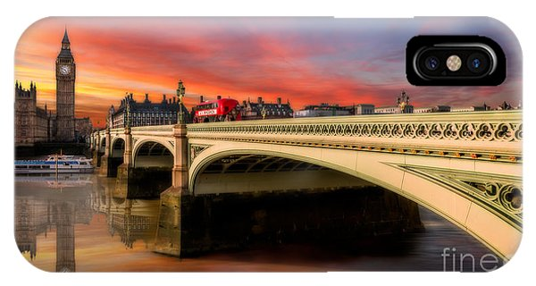 Greater London iPhone Case - London Sunset by Adrian Evans