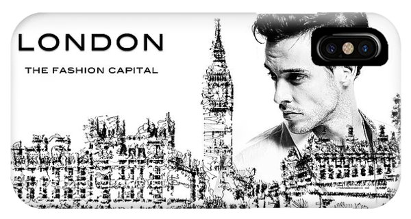 IPhone Case featuring the digital art London The Fashion Capital by ISAW Company
