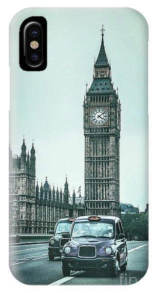 Cab iPhone Case - London Times by Evelina Kremsdorf