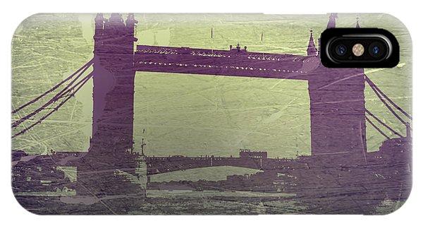 Tower iPhone Case - London Tower Bridge by Naxart Studio