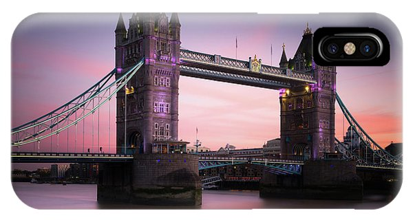 Tower iPhone Case - London, Tower Bridge Sunset by Ivo Kerssemakers