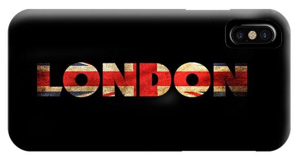 London Vintage British Flag Tee IPhone Case