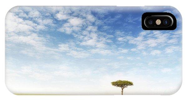 iPhone Case - Lone Acacia Tree In The Masai Mara by Jane Rix
