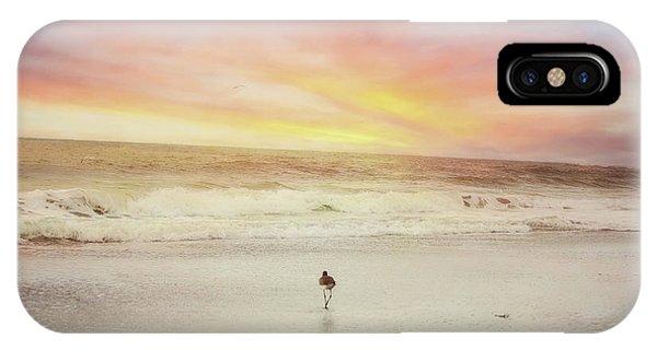 Lone Bird At Sunset IPhone Case
